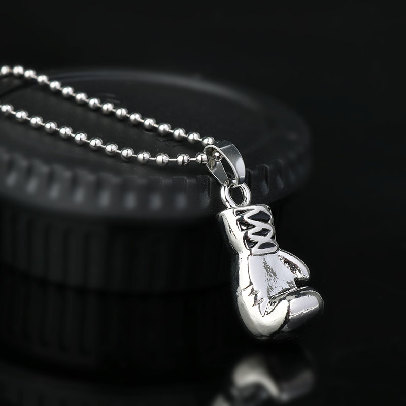 rocky boxing glove pendant necklace 2