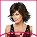 Medusa hair products: Synthetic pastel wigs for women Medium length wavy shag hairstyles Mix color Mono wig with bangs SW0103A