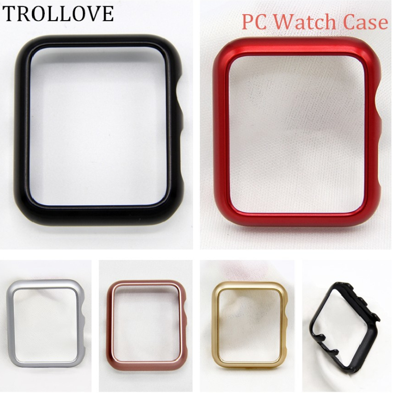 Watches Band Accessories PC Frame Protective Case For Apple Watch Series 1 2 3 38mm 42mm Luxury Cover Shell Perfect Match Bumper protective tpu pc bumper frame for iphone 5c orange
