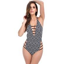 Sexy Swimwear Deep V One Piece Swimsuit Monokini Push Up Ladies Bodysuit Trikini Swimming Suit maio praia Bathing