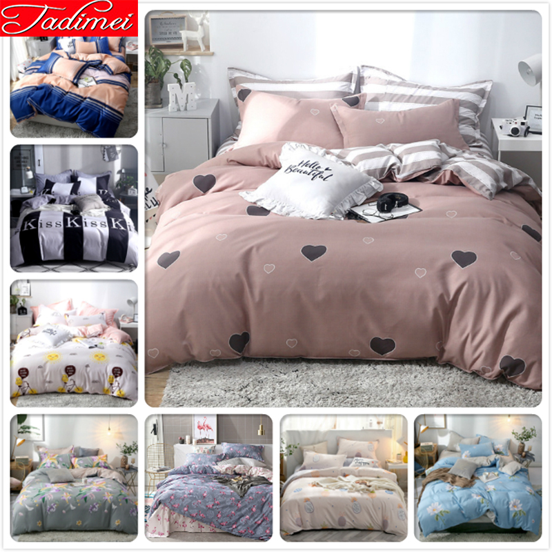 Single Full Twin Queen King Size Duvet Cover Bedding Set Adult Kids Child Soft Cotton Bed Linen 150x200 180x220 200x230 220x240
