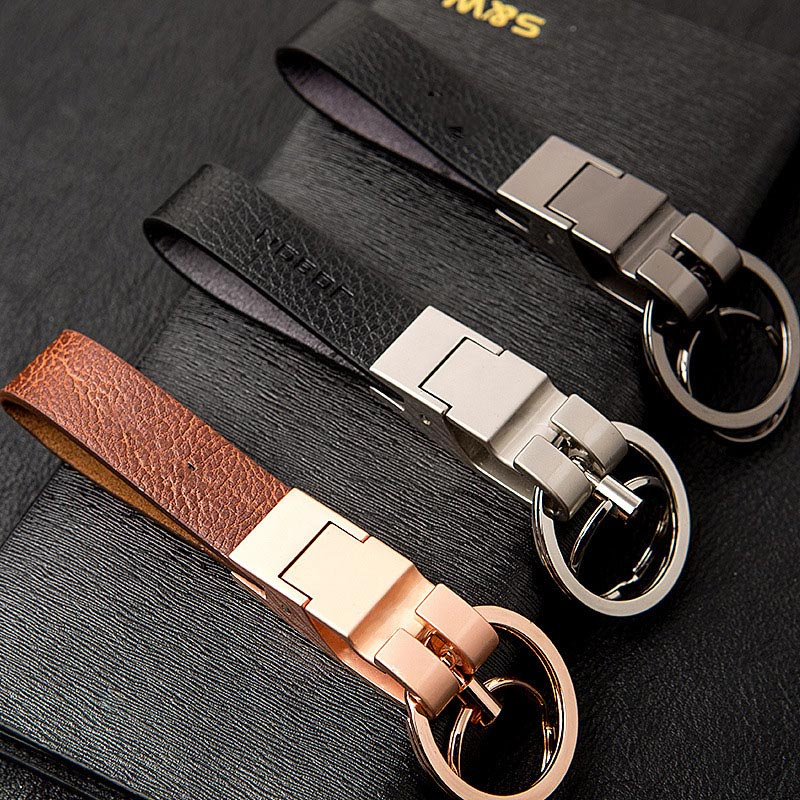 Leather Keychain Fashion Metal Keychain Leather Waist Hanging Car Key Chain Creative Personalized Gift For Men # 1784892 ...