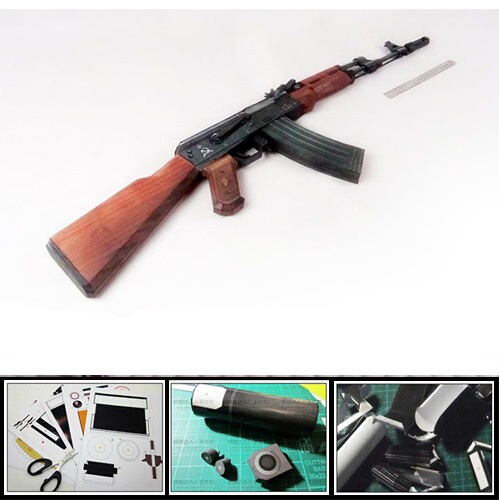 CS AK74 Assault Rifle Gun 1: 1 Scale DIY Handmade Paper Model Craft Toy