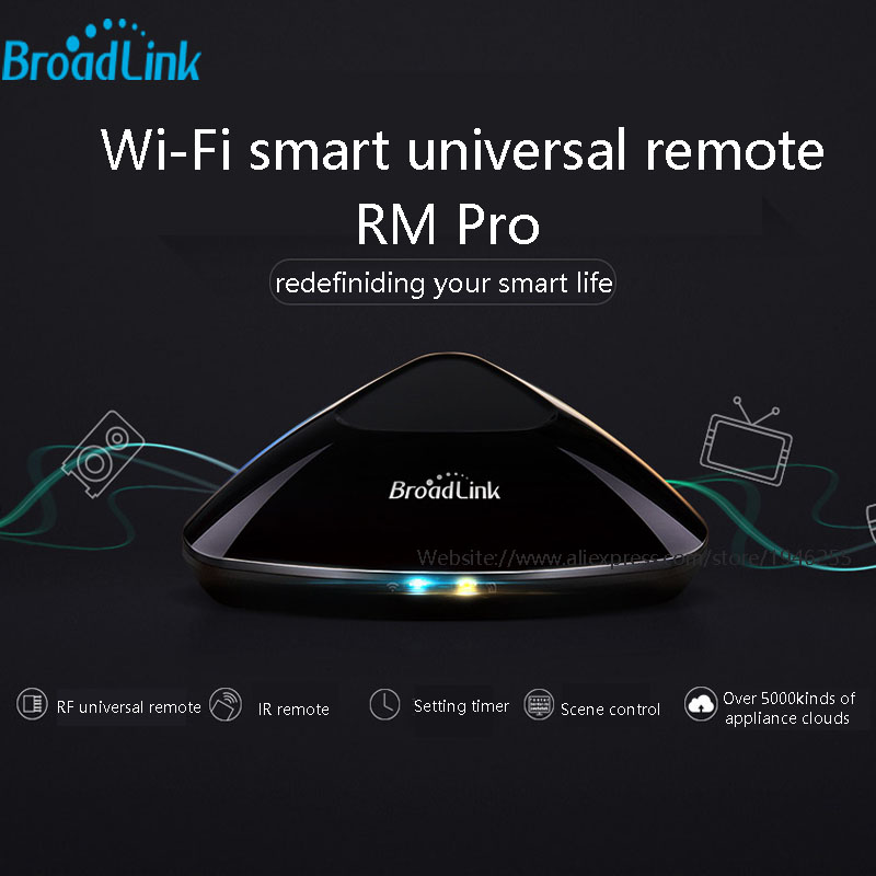 New Broadlink RM Pro RM03 Smart home Automation,Universal Intelligent controller,WIFI+IR+RF Switch remote control by IOS android new ltech wifi ir rf universal intelligent remote smart home automation control for iphone ios android xiaolei wifi remote