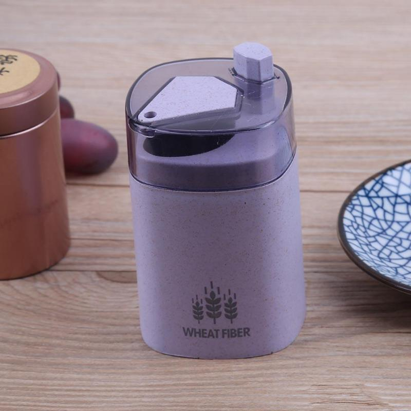 Wheat Straw Automatic Toothpick Holder Container Storage Toothpick Dispenser Box