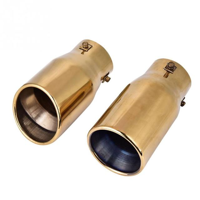 US $19 88 26% OFF|Car Modification 75mm Exhaust Muffler Rear Pipe Tailpipe  End Tip for Toyota Prado 2010 2011 2012 2013 2014 2015 2016 2017-in