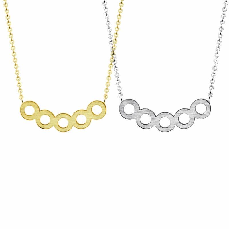 Serial Earrings: Minimalist Jewelry Serial Five Round Necklace Women Girls
