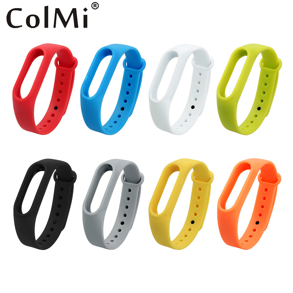 COLMI Colorful Silicone Wrist Strap Bracelet Replacement Watchband for Original Miband 2 Xiaomi Mi band Wristbands