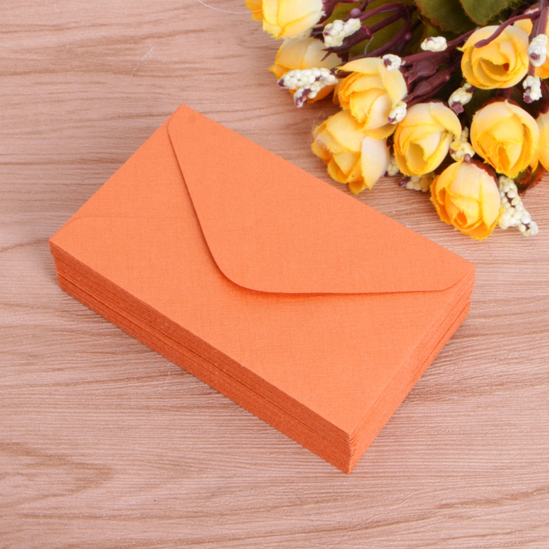 50 Pcs Retro Blank Mini Paper Envelopes Wedding Party Invitation Greeting Cards Gift 6