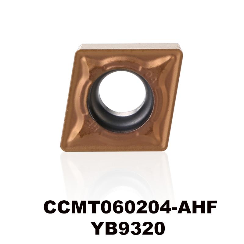 Tarcza tokarska CNC ZCC CCMT060204-AHF YB9320 wysoka wydajność dla stali nierdzewnej CCMT 060204 CCMT060204 CCMT2 (1.5) 1