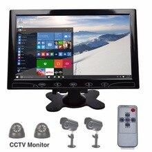"WR943 Toguard 10.1 ""TFT LCD Color Ultrafino 2 de Vídeo de Entrada de Audio para PC Pantalla de Vídeo VGA/HDMI/AV Pantalla Del Monitor de Seguridad de entrada"