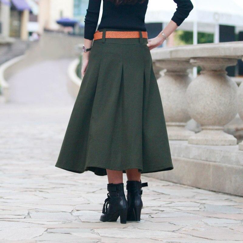Más Plisado Mujer Línea Faldas Falda Blue Jupe Otoño Señoras 3xs Lana Larga Tamaño 9xl Personalizar Dark Una Caliente Navy Bolsillos Invierno Con Casual Saias wTIqzE