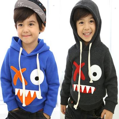 YN-045, crianças meninos hoodies dos desenhos animados, outono algodão de lã suéter