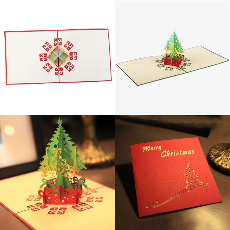 Fantastic 3D Pop Up Holiday Greeting Cards Christmas Tree Card ...