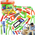32Pcs/set Tool Toys Pretend Play House Simulation Repair Kit Power Workshop Engineer Tools Toys Chainsaw Toolbox Boys Kids Gifts