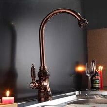 Мраморный дизайн кухонный кран Одной ручкой одно отверстие кухонный кран розовое золото золотой раковина смеситель