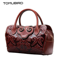 TOMUBIRD new quality cowhide material leather Embossed Tote famous brand women bag fashion genuine leather handbags