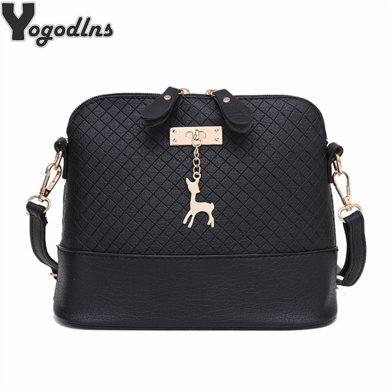 HOT SALE!2019 Women Messenger Bags Fashion Mini Bag With Deer Toy Shell Shape Bag Women Shoulder Bags Handbag