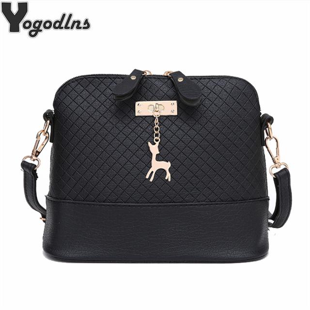 HOT SALE!2019 Women Messenger Bags Fashion Mini Bag With Deer Toy Shell Shape Bag Women Shoulder Bags handbag