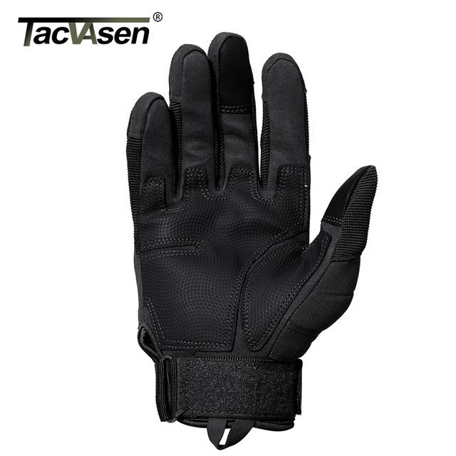 TACVASEN Tactical Gloves Men Army Paintball Gloves Mitten Armor Protection Shell Full Finger Gloves Military Airsoft Accessories 3