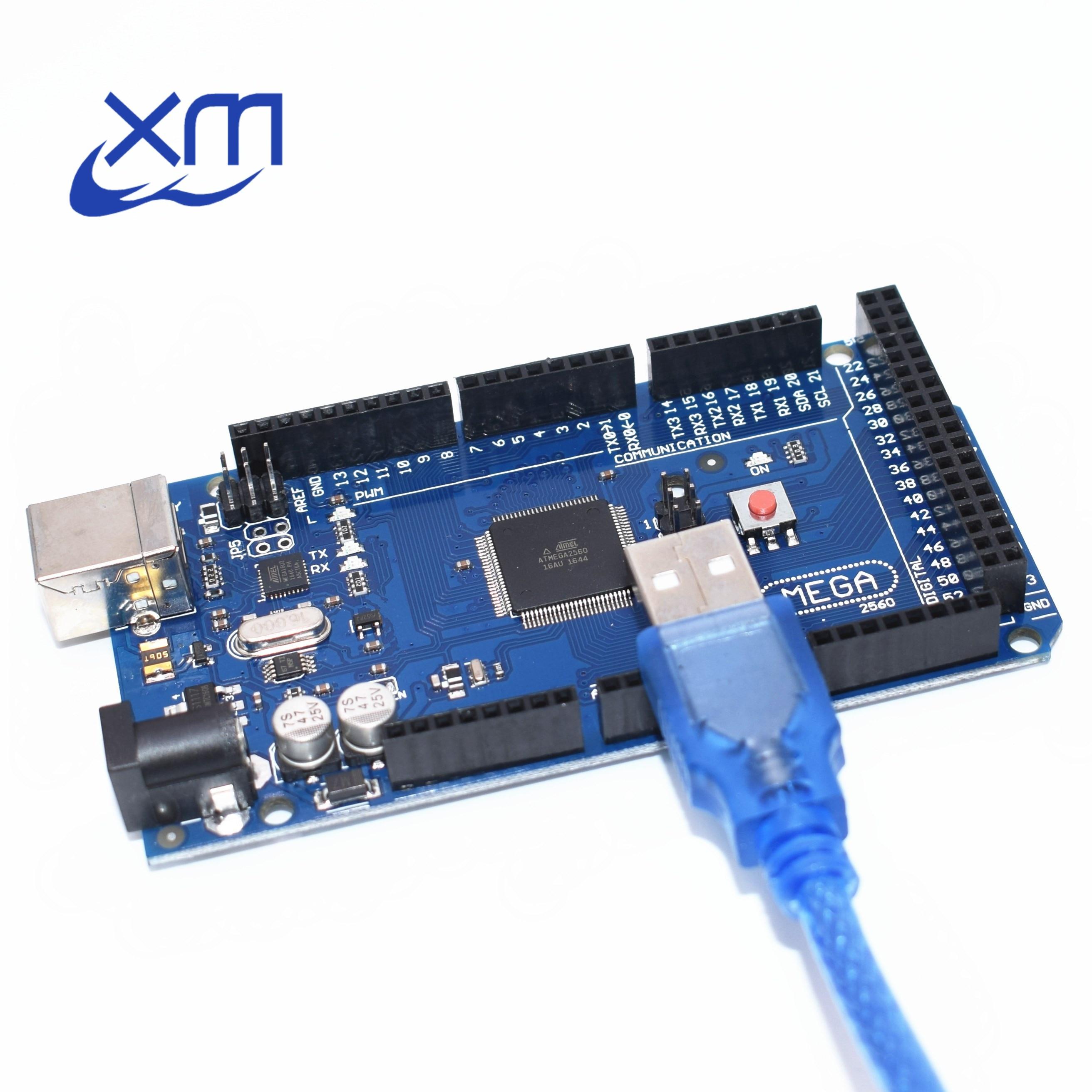 10 pcs Mega 2560 R3 Mega2560 REV3 ATmega2560-16AU, 10 pcs ATMEGA16U2-MU Conseil + 10 pcs Câble USB compatible 10 set