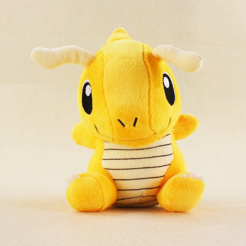 16cm Anime Kawaii Dragonite Plush Doll Toys Stuffed Animal Dragonite Plush Action Figures