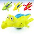 1 PC Venda Quente Brinquedos de Natação Banho de Piscina Jacaré Crocodilo Clockwork Wind Up Jogar Crianças Infantil Animal Para As Crianças Do Bebê educacional