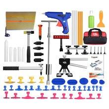 PDR Herramientas Set Herramientas Dent Puller Dent Removal Tool Kit de Reparación de Abolladuras sin pintura Reflector Junta Pistola de Pegamento Puller aquí Ferramentas