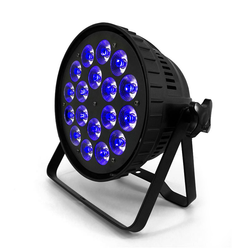 Aluminum Alloy Shell 18x18W RGBWA UV 6in1 Dj Lighting DMX512 Lmpermeable IP20 KTV Disco DJ Party