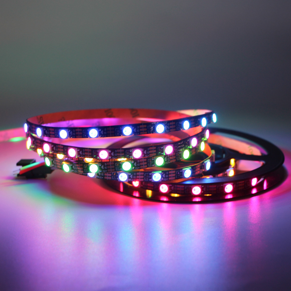 WS2812B WS2812 LED Strip Light Individual Addressable 5mm 3535 RGB tape lamp 5V