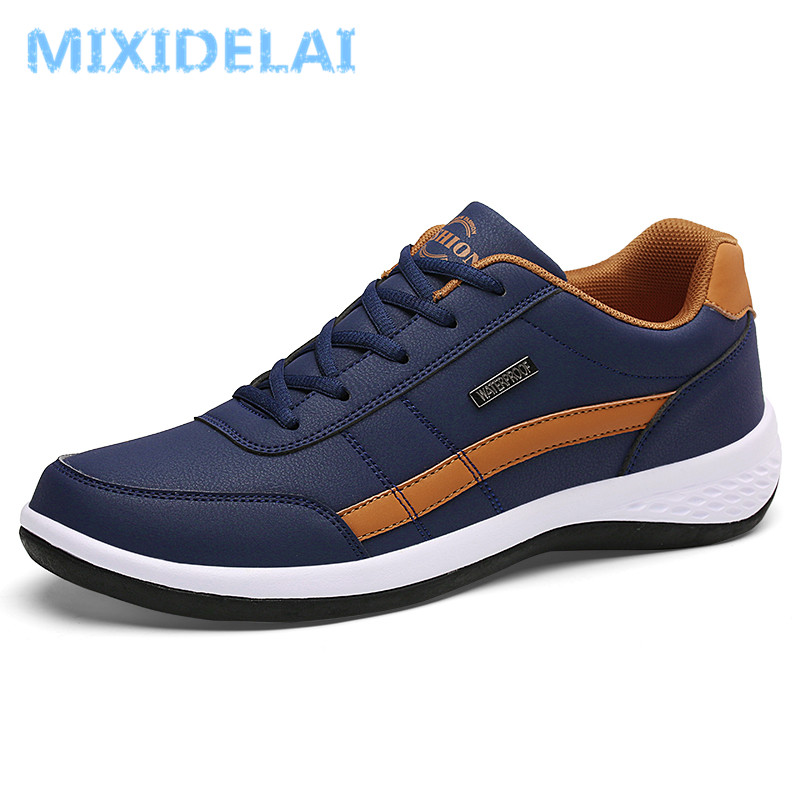 2019 New Fashion Men Sneakers For Men Casual Shoes Breathable Lace Up Mens Casual Shoes Spring Leather Shoes Men Chaussure Homme