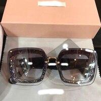 WC0738 2018 роскошные взлетно посадочной полосы Солнцезащитные очки женские брендовые дизайнерские солнцезащитные очки для женщин Картер очки