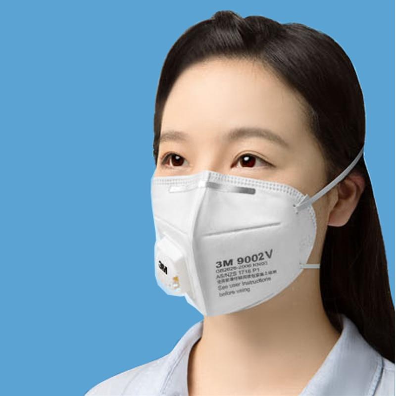 5 adet 3 M 9002 V Anti toz PM 2.5 Maske Anti grip Solunum valfi - Güvenlik ve Koruma - Fotoğraf 6