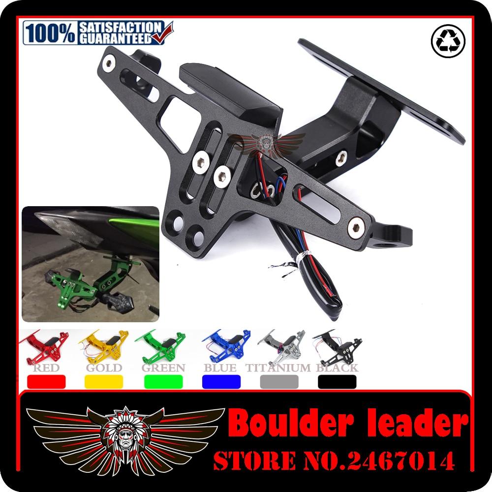 Motorbike Adjustable Angle Aluminum License Number <font><b>Plate</b></font> Holder Bracket For <font><b>YAMAHA</b></font> MT-07 MT-09 MT 07 09 MT07 MT09 Tracer FZ1 FZ8