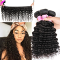 Malaysian Deep Wave Malaysian Hair 4 Bundles 8A Malaysian Virgin Hair Deep Wave Malaysian Curly Hair Human Hair Weave Bundle