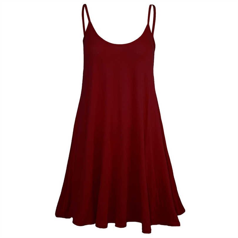 MIARHB Sexy women dress summer casual women dress 2019 Solid Sleeveless Camisole Casual Mini Dress A30