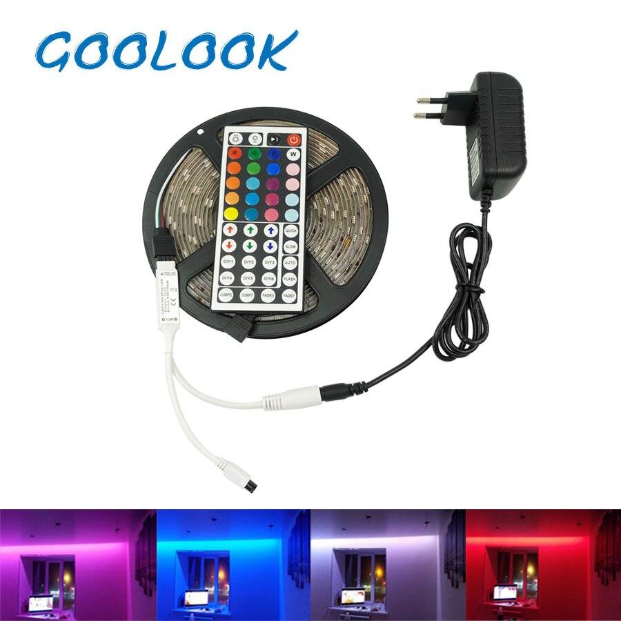 LED Streifen Licht RGB 5050 SMD 5 mt 10 mt RGB Streifen Licht Wasserdichte Led Flexible Band + IR Fernbedienung controller + Lampe Band Netzteil