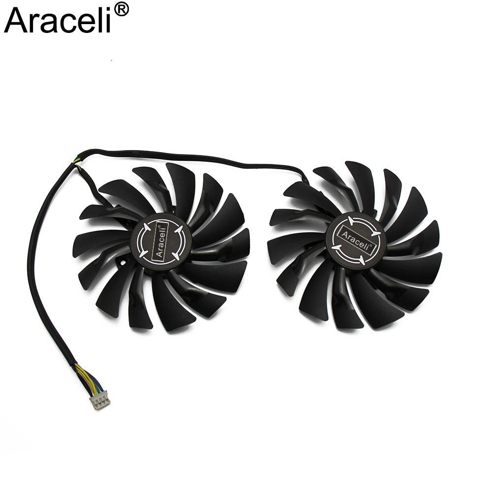 2pcs/lot P104-100 MINER GTX 1080/1070/1060 Fan For Msi GTX1080 GTX1070 ARMOR 8G OC GTX1060 Graphics Card GPU Cooling Fan
