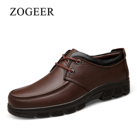 ZOGEER Big Size 38 47 Winter Furry Men Dress Shoes Classic Business Mens Italy Shoes Lace