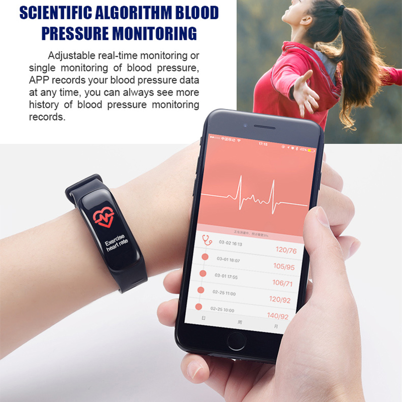 Image 4 - Imosi Smart bracelet C1s Color screen Waterproof wristband heart rate monitor Blood pressure measurement Fitness tracker band-in Smart Wristbands from Consumer Electronics