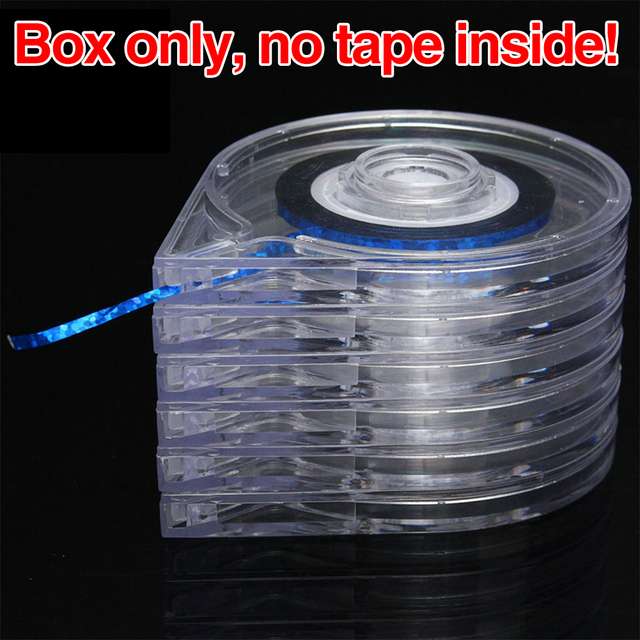 Pro 5/10 Pcs 6-layer Ferramentas Da Arte do Prego Adesivos Caixa de Rolo De Suporte fácil de Usar Projeto Striping Linha Tape Caso Claro Frete Grátis EQE399