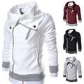 Мужская Мода С Длинным Рукавом Молнии Slim Fit Пиджаки Повседневная Пальто