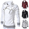 Men's Fashion Long Sleeve Zipper Slim Fit  Outwear Casual Coat