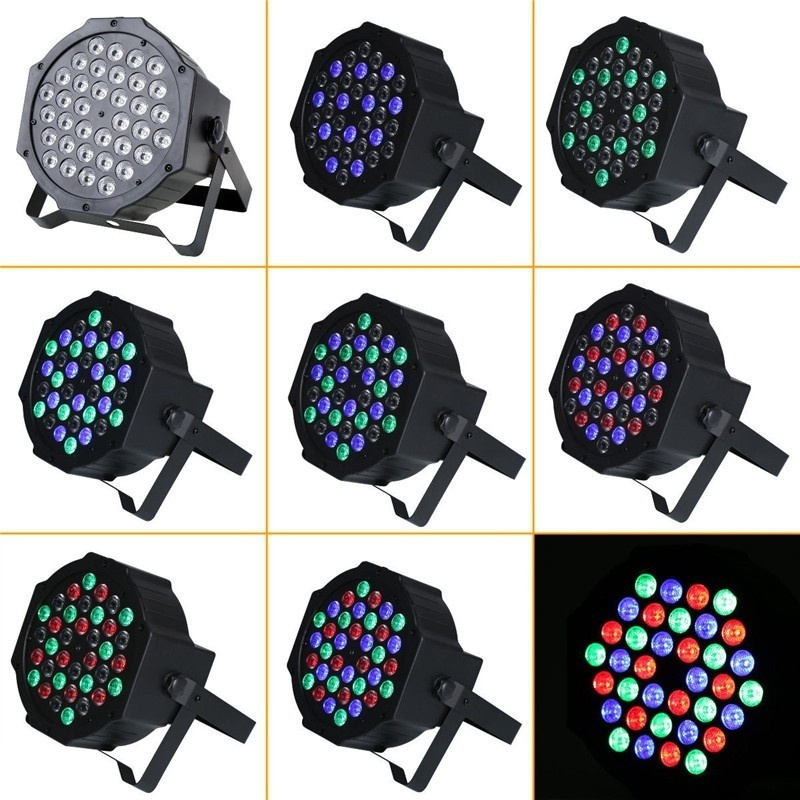 36 LED 108W Flat Par Light RGB DMX-512 Sound Actived Magic Effect Led Stage 110-220V Disco Club Party Light