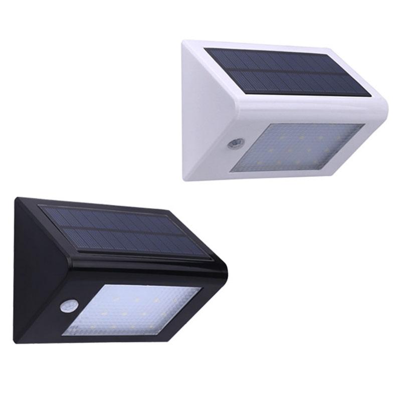 20 LEDs De Luz Solar Ao Ar Livre Com Sensor De Movimento De Segurança À  Prova