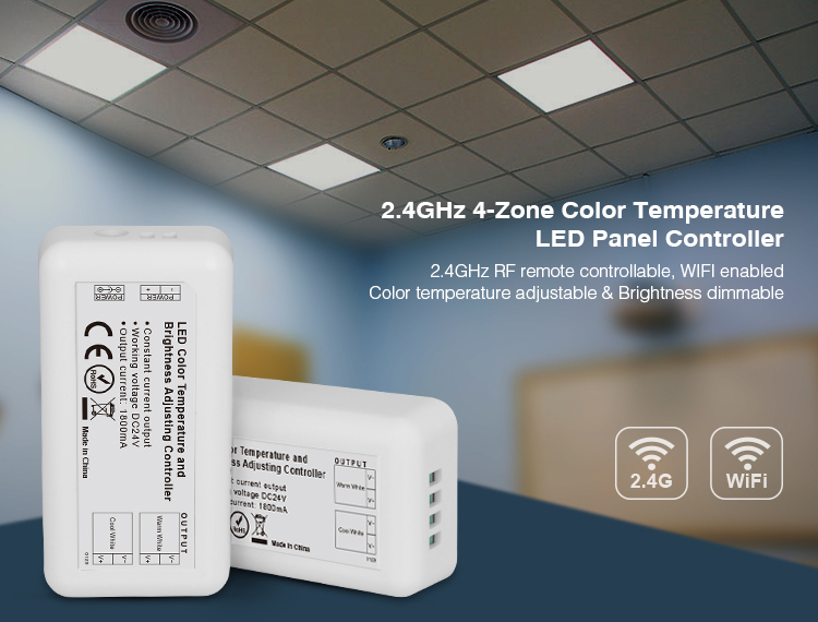 Dynamic 2017 Time-limited Dc24v Milight Fut023 2.4g Rf Wifi 2.4ghz 4-zone Color Temperature Brightness Adjusting Led Dimmer Controller Finely Processed Lighting Accessories Lights & Lighting