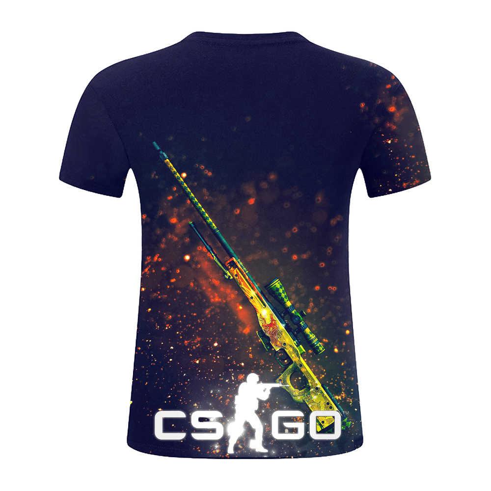 Nieuwe Zomer Mode 3d T-shirt Korte Mouw Tee Counter Strike Wereldwijde Offensief CSGO Mannen/Vrouwen T-Shirts Homme Merk kleding