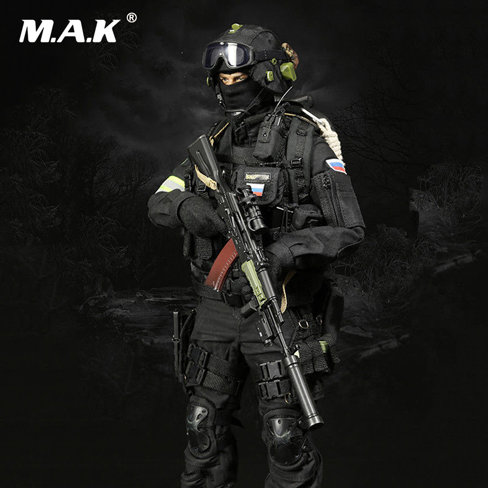 1/6 Russian Spetsnaz FSB Alfa Group 3.0 Black Color M-  069A Figure Accessories Colletible   Model Toy without body and head