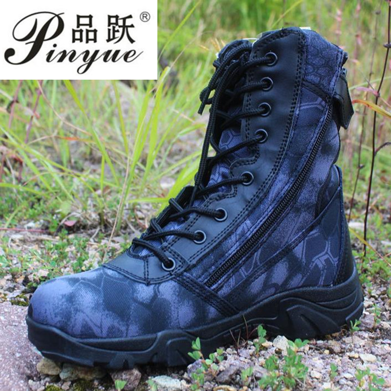 Men's Sports Hiking Boots Military Tactical Boots Trekking Shoes Army Training Outdoor Men Python Hunting Boots Combat Boots 2017 new military men s outdoor breathable hiking tactical boots men army combat trekking climbing shoes mountaineering boots
