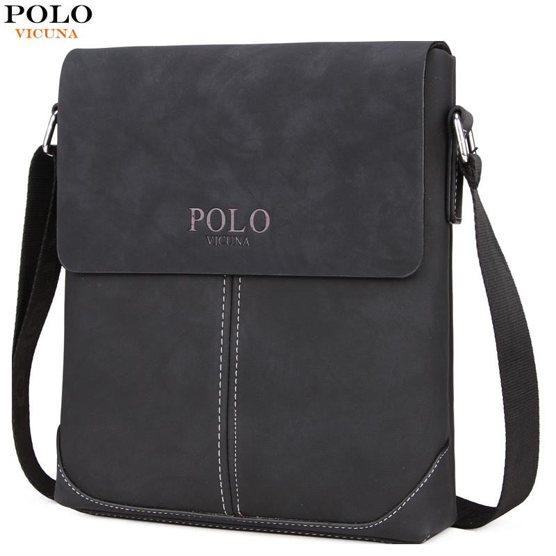 VICUNA POLO New Collection Vintage Messenger Bags For Men Simple Business Bags Casual Mens Shoulder Bag Soft Leather Handbags